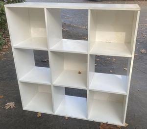 WHITE 9 CUBE BOOKCASE SHELF STORAGE ORGANIZER UNIT for Sale in Chapel Hill, NC