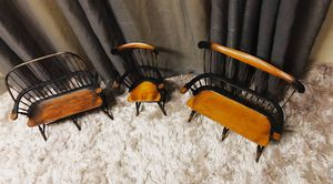 Decor wooden chairs 17in tall for Sale in South Salt Lake, UT