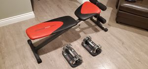 Weiderpro 255l bench with weiderspeed weight for Sale in Brea, CA