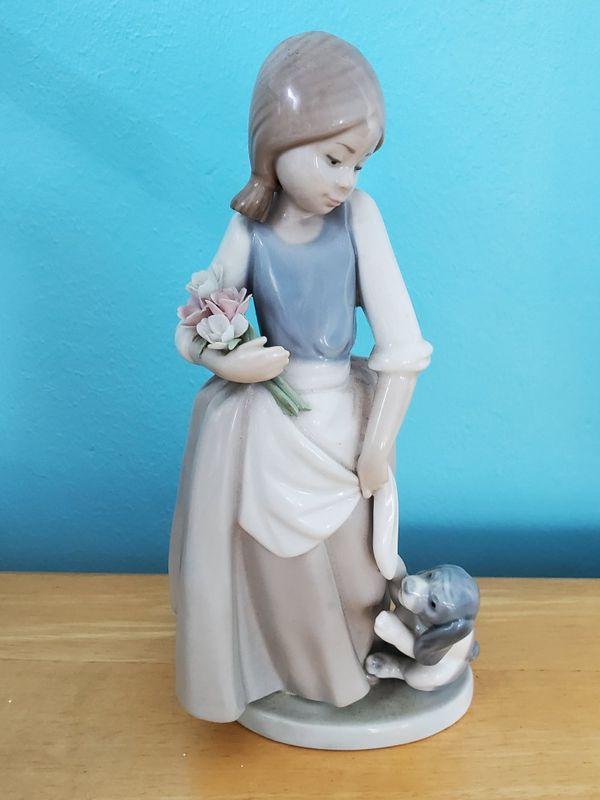 Lladro Figurine - Girl with Dog
