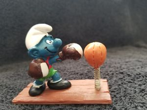 Smurfs Boxer Super Smurf Punching Bag Vintage Toy Figure Boxing Rocky for Sale in San Diego, CA