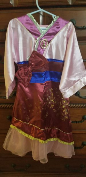 4t Mulan costume with fan for Sale in Galloway, OH