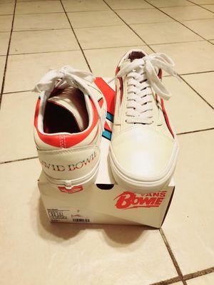 VANS x DAVID BOWIE ALADDIN SANE/TRUE WHITE OLD SKOOL SKATE SHOES for Sale in Laredo, TX