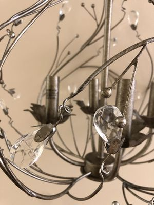 Silver Pendant Chandelier with Crystal Embellishments for Sale in Fort Myers, FL
