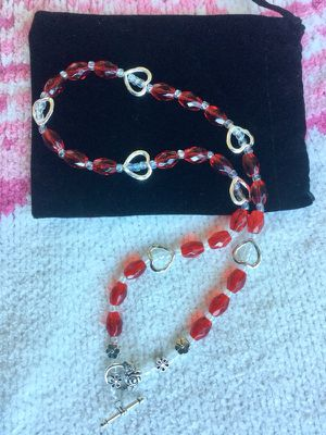 Fashion jewelry 💕 Bead Gallery glass beads & crystals & silver hearts for Sale in Alexandria, VA
