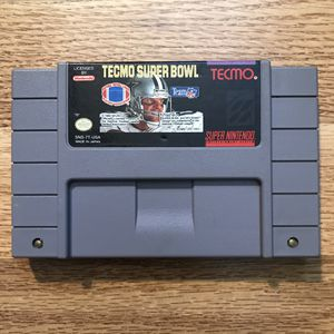 Tecmo Super Bowl Super Nintendo SNES Game Only Tested & Working for Sale in Banning, CA