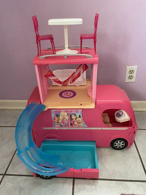 Barbie pop up camper with accessories. for Sale in Brownsville, TX