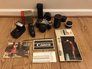 Canon AE-1 Program with lenses and accessories for Sale in Morrisville, PA
