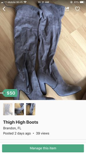 Thigh High Boots Size 11 for Sale in Brandon, FL