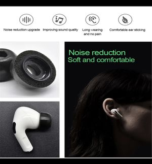 Noise Isolate Memory Foam Ear Tips for Airpods Pro Replacement Earbuds Cover Protective Earphone Earplugs For Apple Airpods Pro for Sale in San Diego, CA