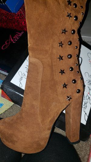 Chunky thigh high boot for Sale in University Place, WA