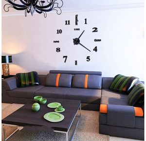 DIY Wall Clock Modern Design Home Decorative Wall Sticker Clock 3D Frameless (Large) for Sale in South Plainfield, NJ