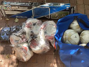 Youth Soccer Bundle: (13 Balls, 2 Small Goal Nets, 6 Training Pinnies/Bibs) for Sale in Los Angeles, CA
