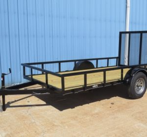 12 ft utility flatbed trailer with ramp brand new for Sale in Dallas, TX