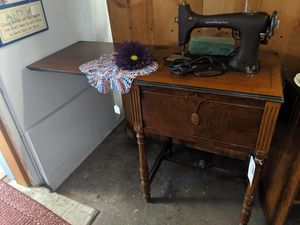Eldredge rotary antique sewing machine cabinet for Sale in Carnation, WA