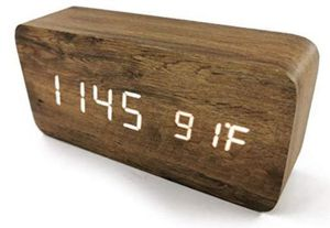 New. LED Smart Alarm Digital Clock. Wood Grain Pattern. for Sale in Corona, CA