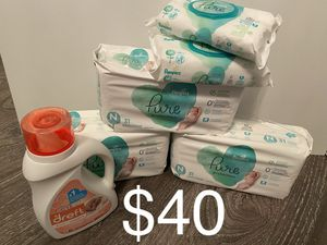 Pampers Pure Size NB Bundle for Sale in Lawrenceville, GA