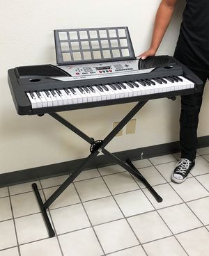 $75 NEW Music Electric Keyboard Digital 61 Key Piano Beginner Organ w/ Stand for Sale in Montebello, CA