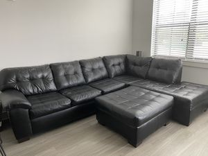 Leather sectional couch for Sale in Atlanta, GA