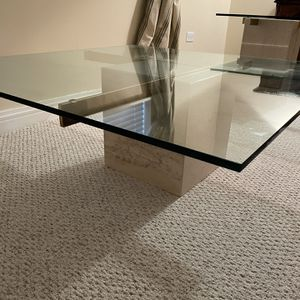 Matching Glass Coffee Table and End Table for Sale in Orland Park, IL