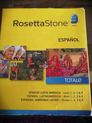 Rosetta stone Espanol Totale Level 1 2 3 4 for Sale in Fort Lauderdale, FL