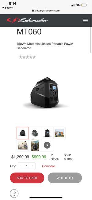 Portable power generator for Sale in El Mirage, AZ