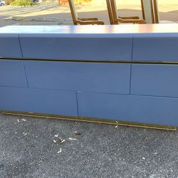 Blue And Gold Lane Lowboy Dresser - Delivery Available for Sale in Tacoma,  WA