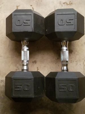 Urethane Dumbbells-50lbs for Sale in Richmond, VA
