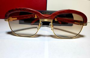 Cartier gold and wood frame sunglasses malmaison for Sale in Windsor, CT