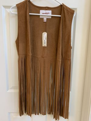 New fringe vest shirt size medium for Sale in Phoenix, AZ