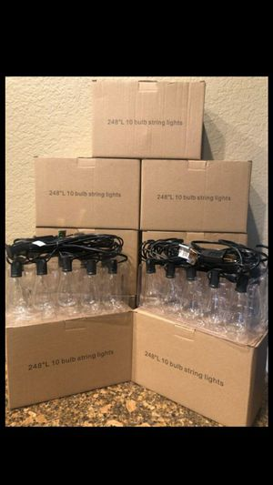 BRAND NEW SUMMER SPRING STRING LIGHTS 24 FT.10 BULBS SOCKET, OUTDOOR / FIRM $25 EACH for Sale in Fontana, CA