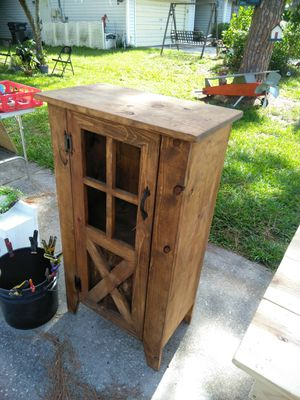 Rustic county farm cabinet with a shelf in North lakeland for Sale in Lakeland, FL