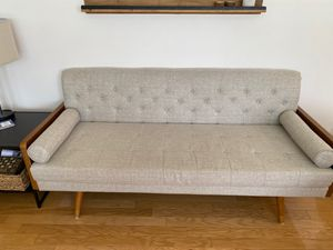 Gray Midcentury Couch Modern for Sale in Brandon, FL