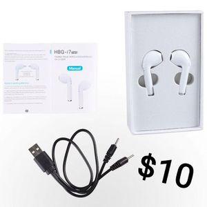 i7 TWS True Wireless Earbuds V4.2+DER (Twins) for Sale in Los Angeles, CA