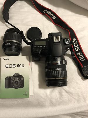 Canon EOS 60D Professional camera 2 lenses and accessories for Sale in Lynnwood, WA