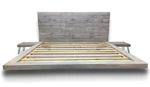 Custom built reclaimed wooden queen size bed frame for Sale in South Bend, IN