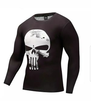 🚨🚨💥💥LOOK!!!!💥💥 The Punisher Men's Compression Long Sleeve Fitness GYM Workout running Base Layer Shirt for Sale in Fontana, CA