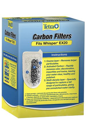 Tetra Carbon Filters, for Aquariums, Fits Whisper EX Filters for Sale in Bakersfield, CA