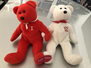 I love you monogrammed stuffed animal bears for Sale in Balch Springs, TX