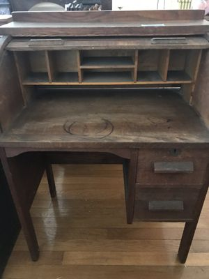 Child's antique roll top desk - from 1910 for Sale in Boonsboro, MD