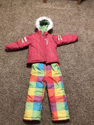 Girls Size Large 6x Winter Coat and Snow Bibs Set by London Fog for Sale in Bonney Lake, WA