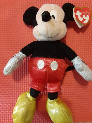 """Mickey Mouse Sparkle Ty Plush Stuffed Animal Figure 8"""" 2016 Disney New! for Sale in Lehigh Acres, FL"""