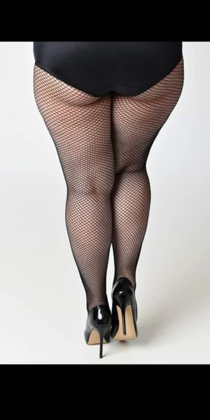 Plus Size Black Fishnet Tights /Stockings /Pantyhose/brand new/nuevas for Sale in Fullerton, CA