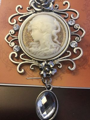 Silver Vintage Cameo brooch / Accessorize with classy jewelry for Sale in Alexandria, VA