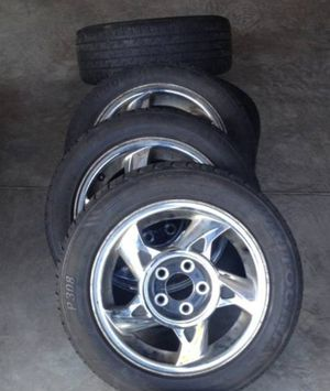 4 16x6.5 wheels rims 2 brand NEW TIRES 225 60 16 5x115 5x4.33 pontiac gm for Sale in Germantown, MD