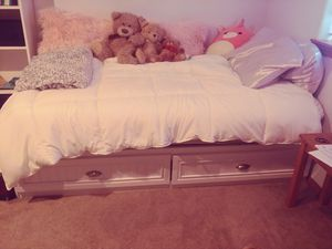 Free twin bed frame and mattress. for Sale in Renton, WA