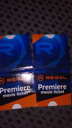 2 movie passes to any regal cinemas for Sale in San Diego, CA