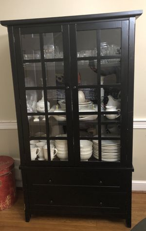 Dish China Cabinet Hutch Office Storage for Sale in Bethesda, MD
