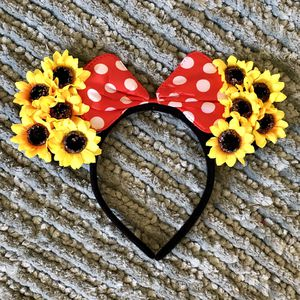 Minnie Mouse Red Polkadot Bow & Sunflower 🌻 Headband Ears for Sale in Long Beach, CA