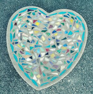 Heart shaped mosaic garden stone for Sale in Austin, TX